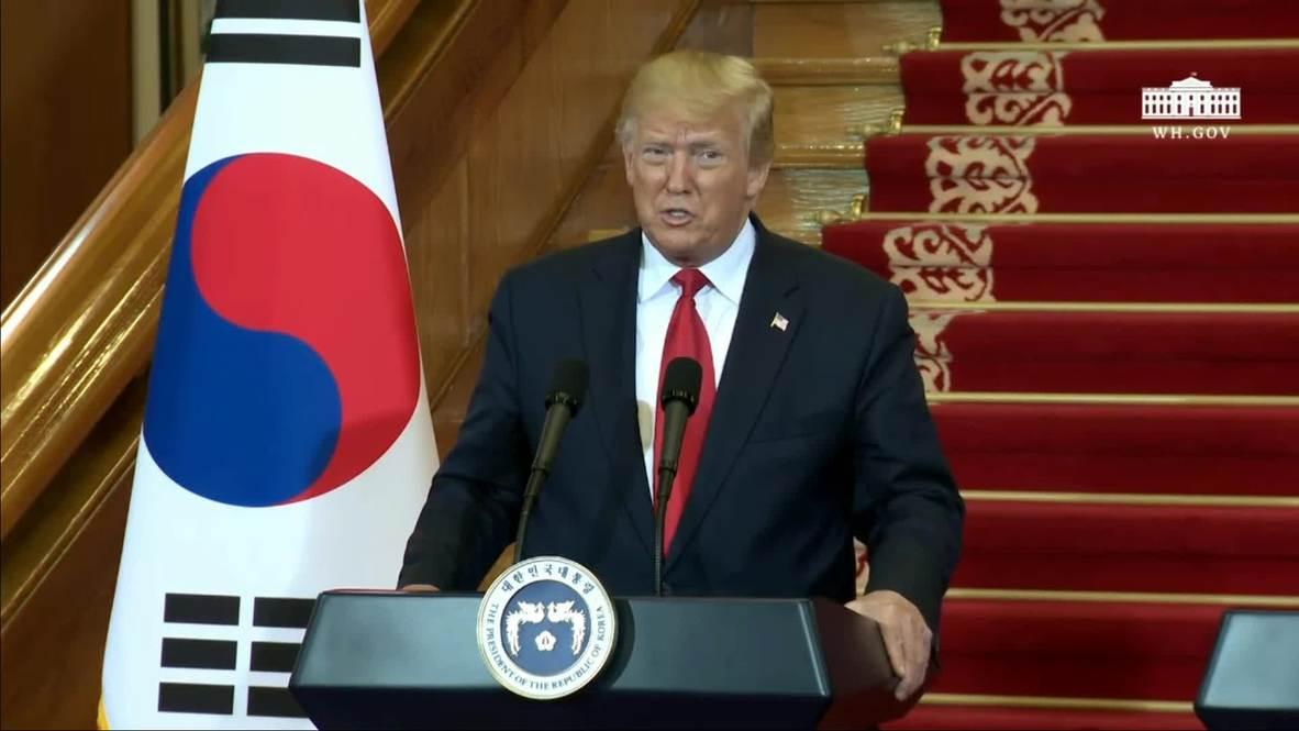 """Corea del Sur: Donald """"Creador de la paz"""" Trump confirma su reunión con Kim Jong-un"""