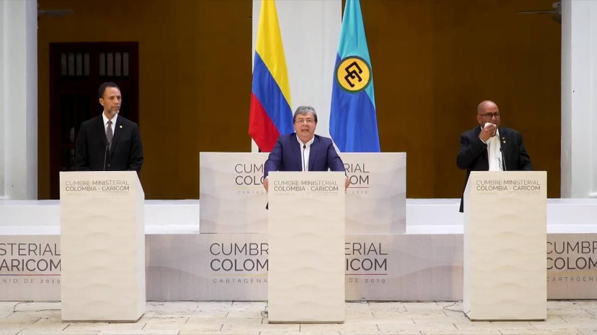 Colombia: Celebran en Cartagena la cumbre Colombia-Caricom, con cancilleres de 15 países