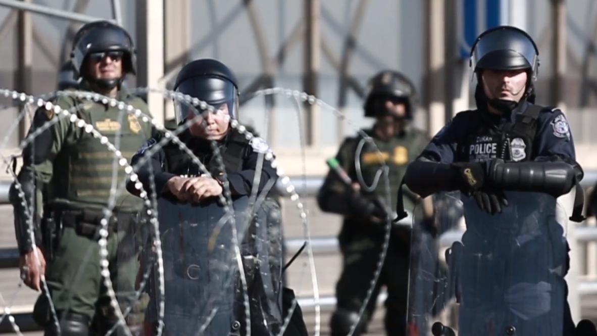 México: Cierran temporalmente el puente Paso del Norte por una protesta de migrantes