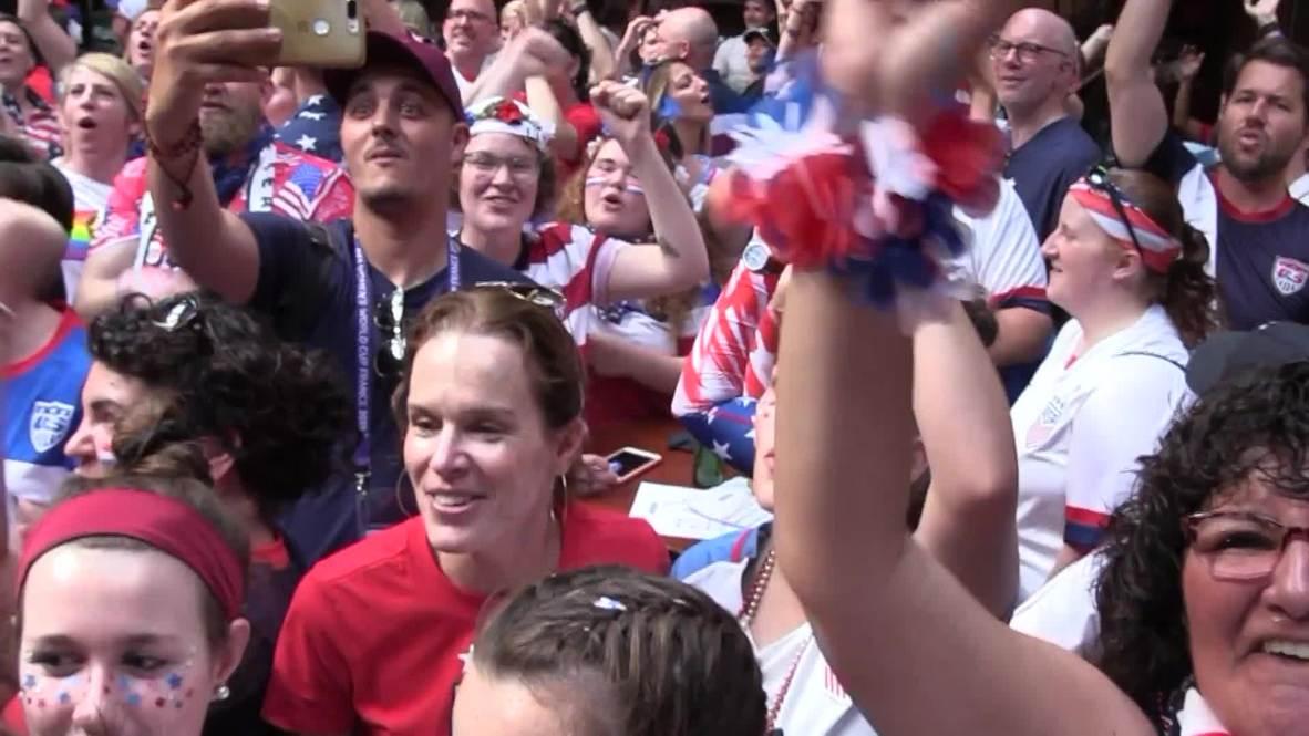 Francia: Hinchas de EE.UU. e Inglaterra se reúnen en Lyon antes del juego por semifinales