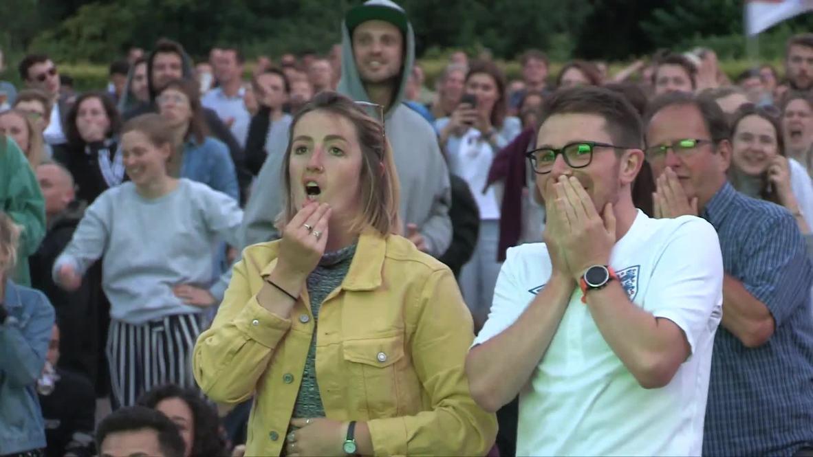 UK: Fans watch England lionesses lose dramatic semi-final
