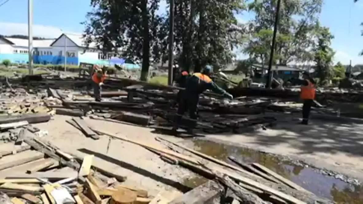 Россия: Последствия чрезвычайной ситуации продолжают ликвидировать в Иркутской области