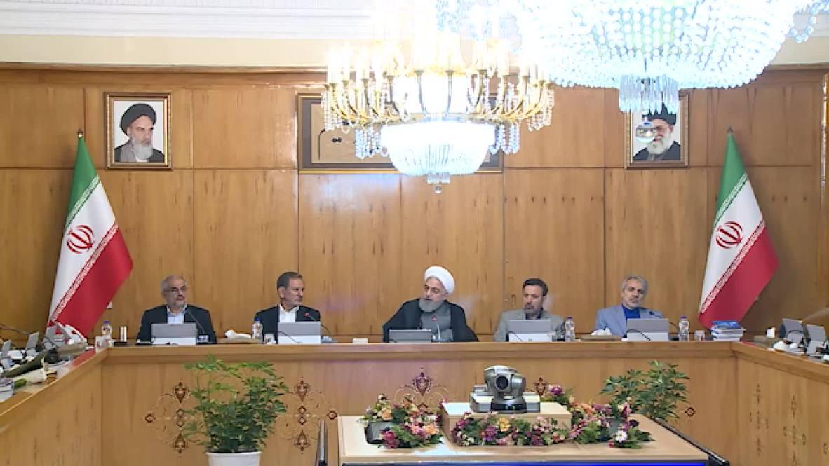 Irán: Teherán aumentará el nivel de enriquecimiento de uranio más allá del límite acordado - Rohaní