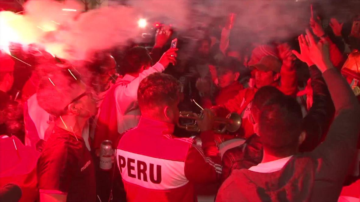 Brazil: Peru fans celebrate reaching Copa America final after shock win over Chile