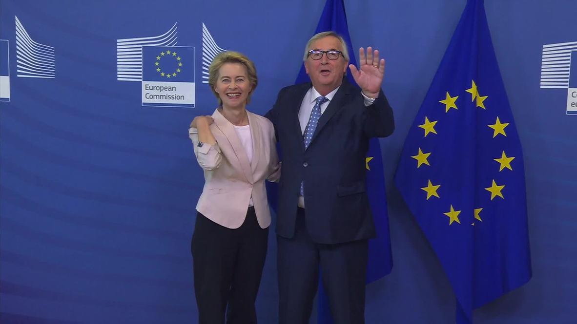"""Bélgica: """"¡Adiós!"""" - Juncker se reúne con von der Leyen en la Comisión Europea"""