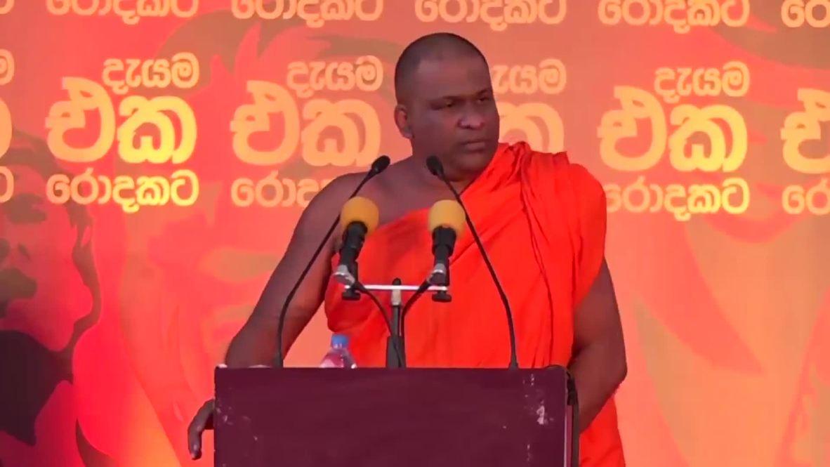 Sri Lanka: Nacionalistas budistas piden un gobierno cingalés durante una manifestación