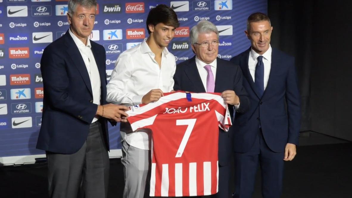 España: Joao Felix se convierte en el fichaje más caro del Atlético de Madrid por 126 millones de euros