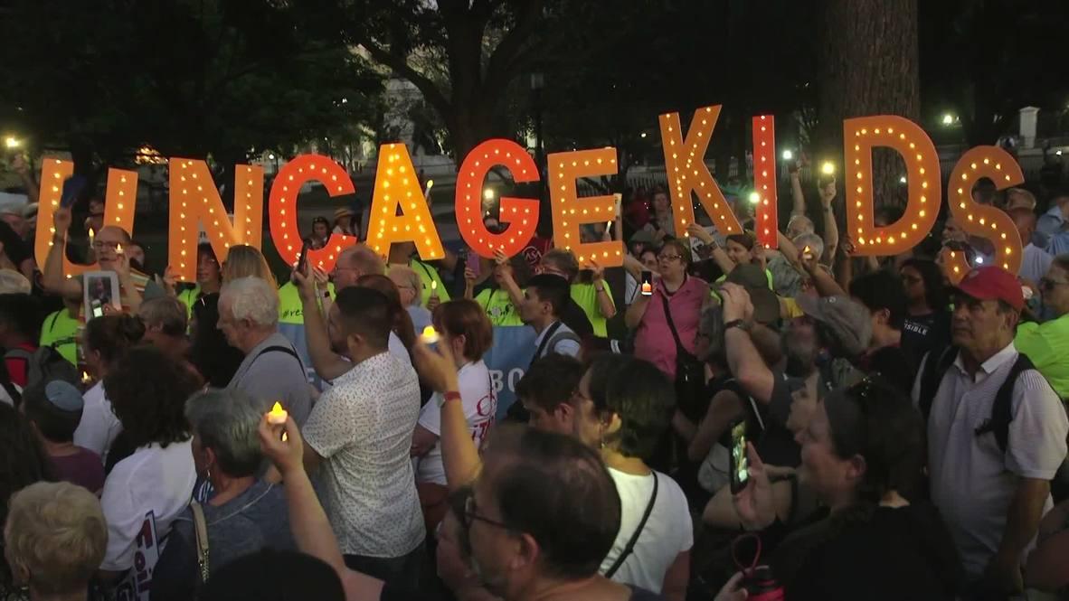 EE.UU.: Protestan frente a la Casa Blanca por condiciones inhumanas en los centros de detención de migrantes