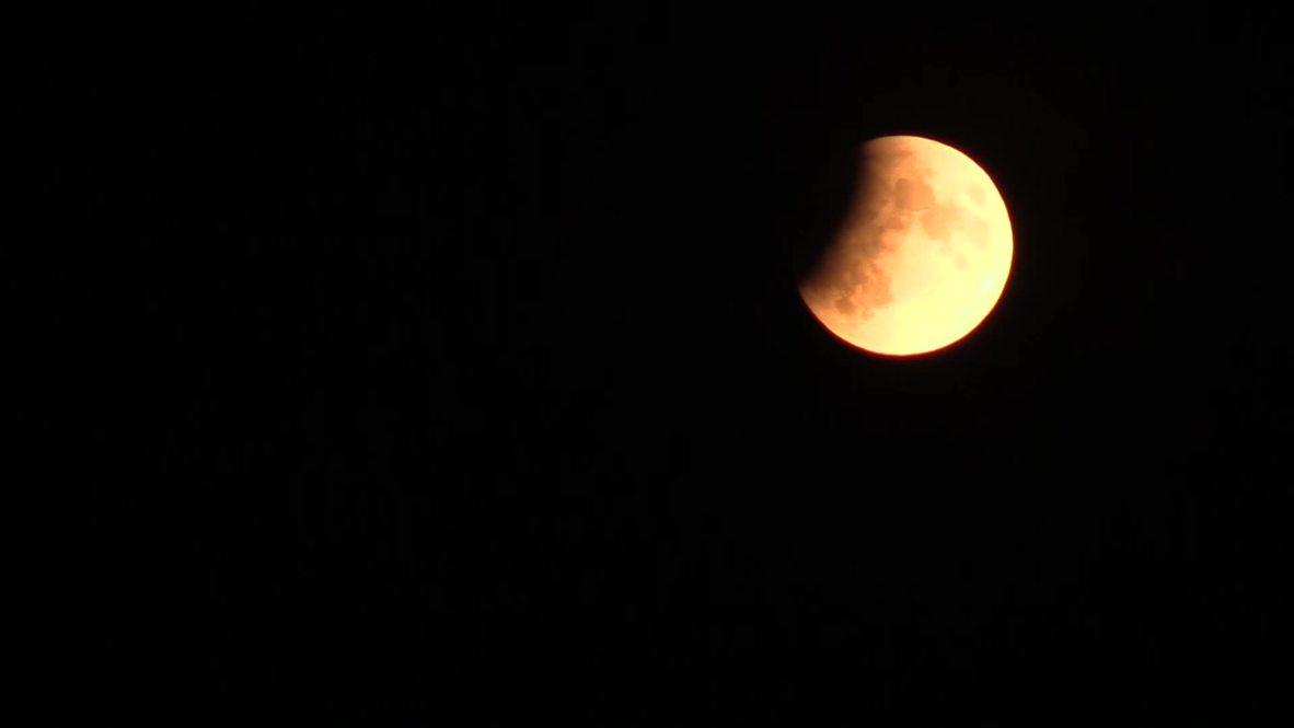 Alemania: Eclipse parcial de la luna coincide con aniversario del lanzamiento del Apolo 11