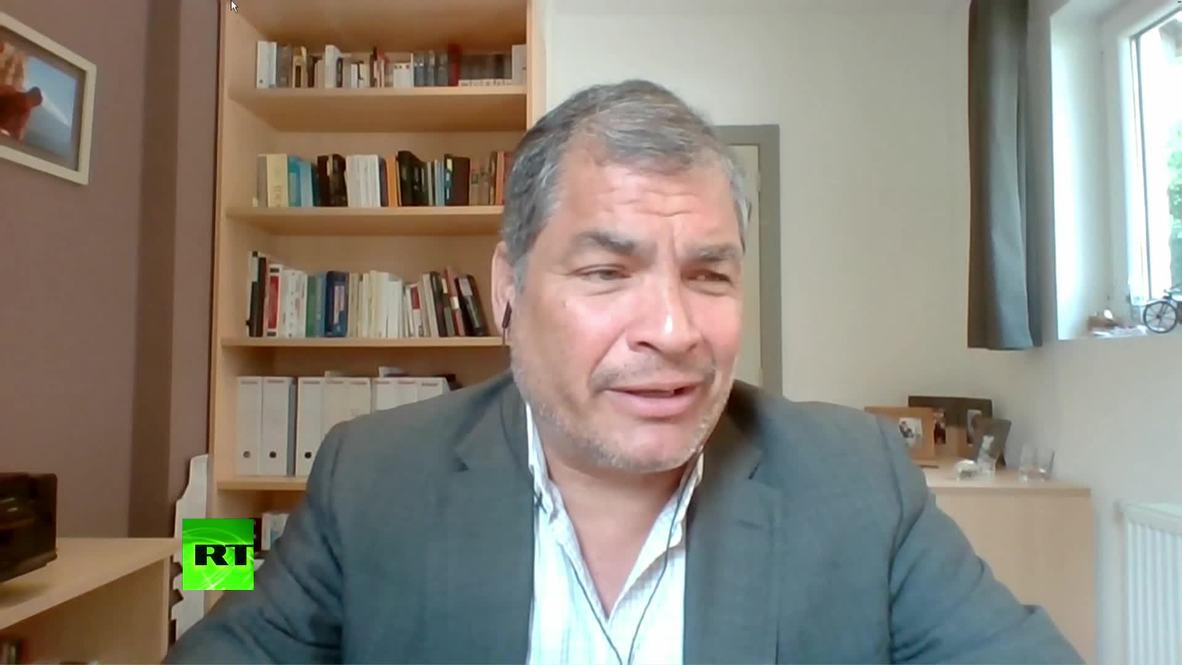"Bélgica: Correa rechaza informe sobre ""espionaje"" de Assange *EXCLUSIVO* *CONTENIDO DE SOCIO*"