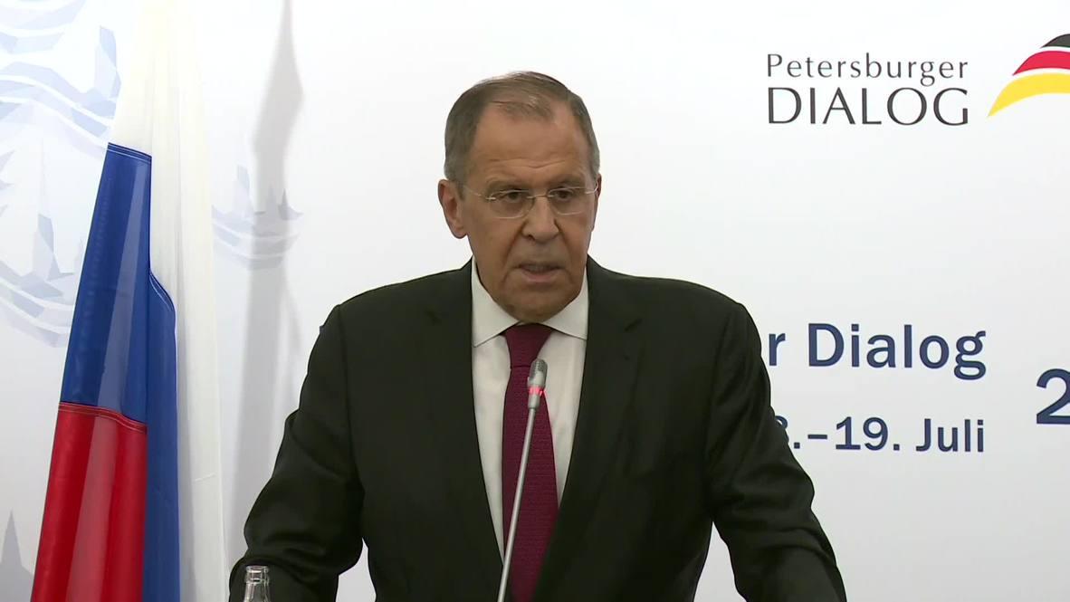 Germany: Lavrov, Maas discuss Ukraine, Iran nuclear deal