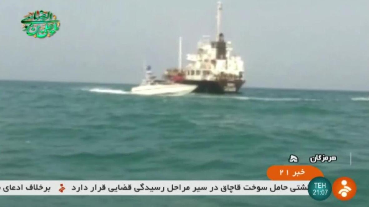 Irán: Carguero incautado por Guardia Revolucionaria por contrabando de petróleo- TV estatal