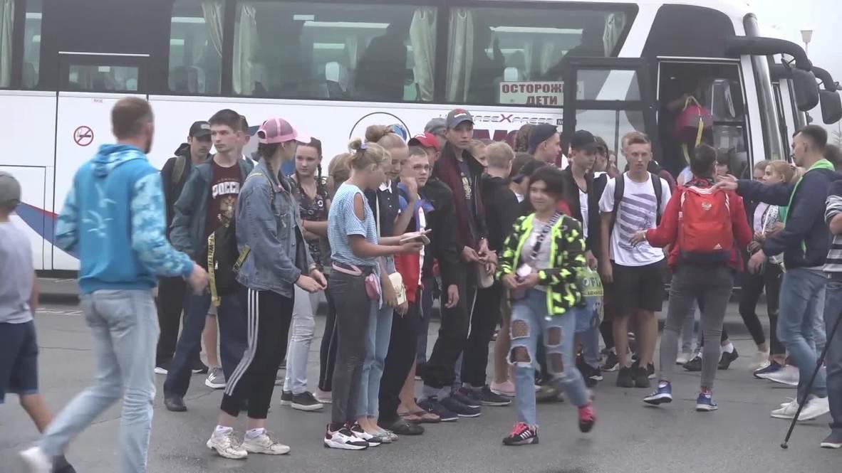 """Россия: """"Океан"""" радости! Ребят из Иркутской области привезли на отдых во Всероссийский детский центр"""