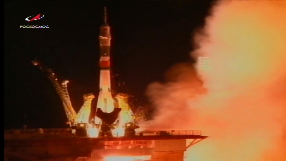 Kazajistán: Despega la nave espacial Soyuz con tres miembros de la tripulación de la EEI