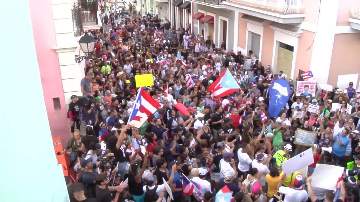 Puerto Rico: Continúan las protestas exigiendo la renuncia del gobernador