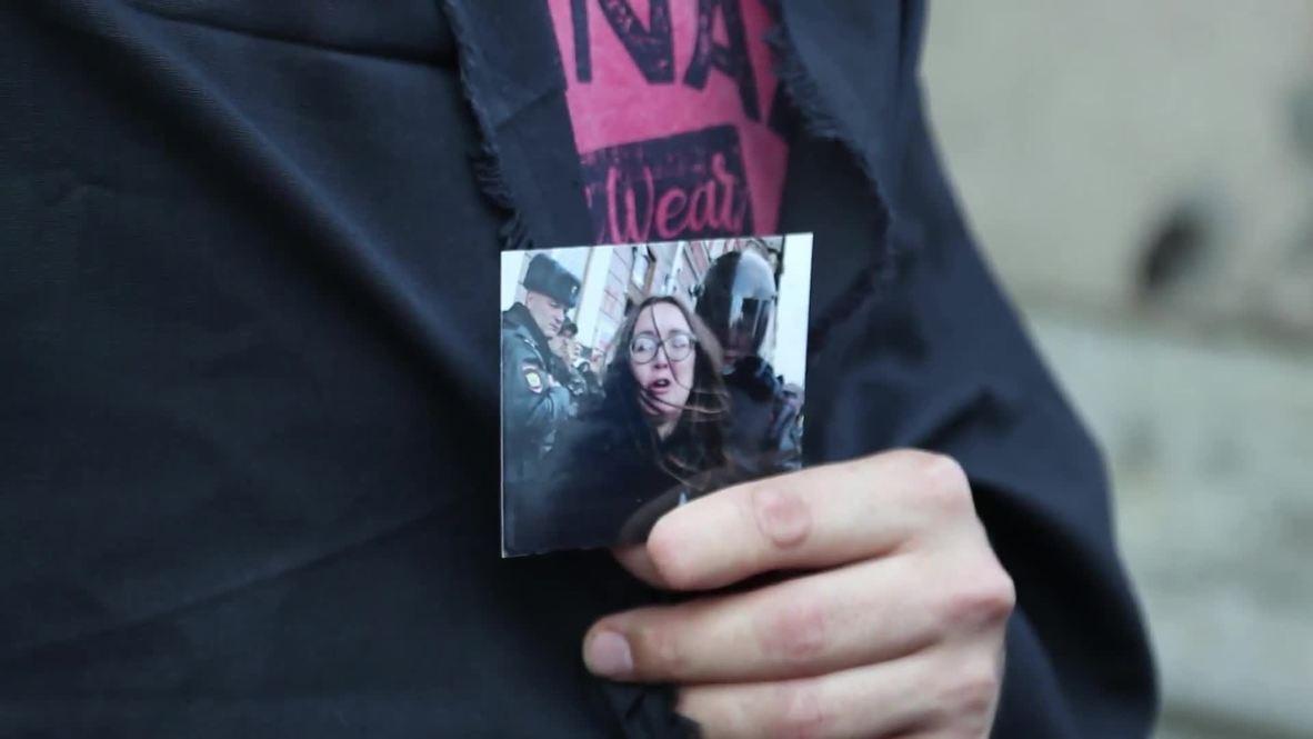 Россия: В Петербурге прошла акция в память об убитой активистке Елене Григорьевой