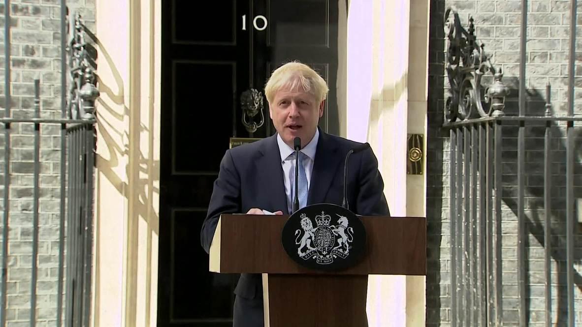 """Reino Unido: En su debut como primer ministro, Johnson promete que la salida de la UE será """"sin peros"""""""