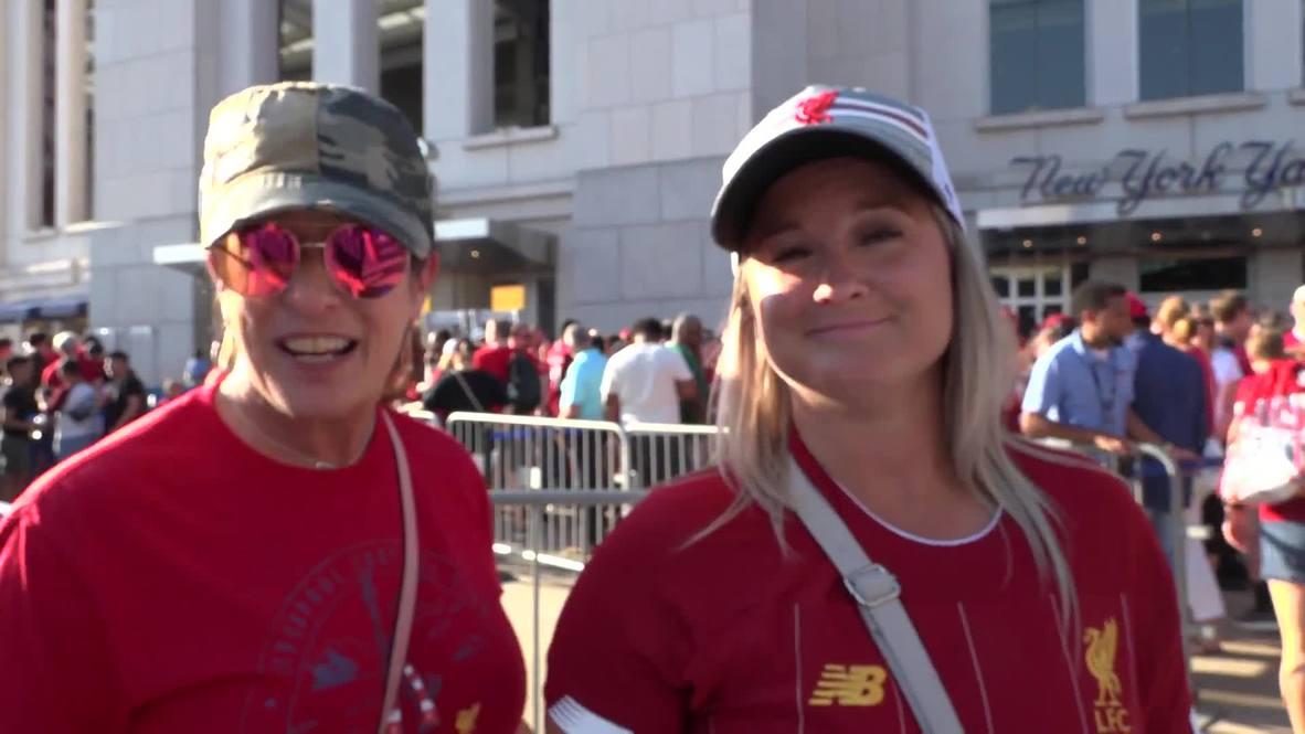 EE.UU.: Hinchas del Liverpool toman Nueva York antes del partido contra el Sporting de Lisboa