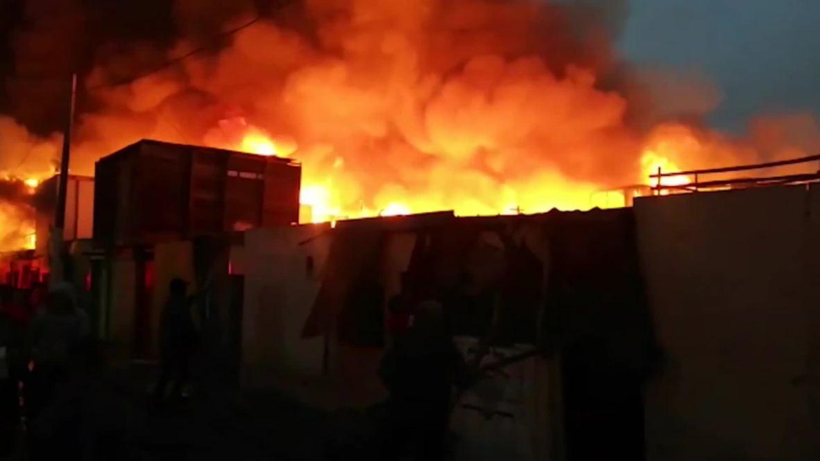 Peru: Massive fire burns down more than 200 houses in El Callao