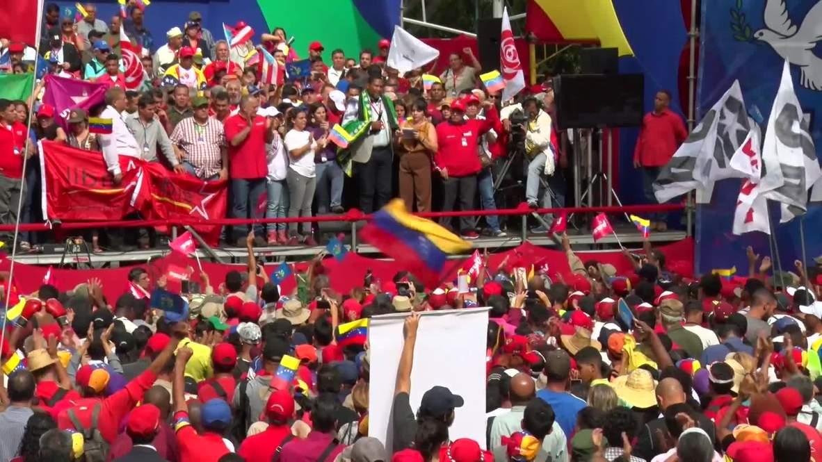 Venezuela: Thousands attend 25th Sao Paulo Forum march