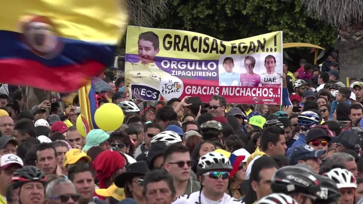 Colombia: La ciudad natal de Egan Bernal celebra su victoria en el Tour de Francia 2019