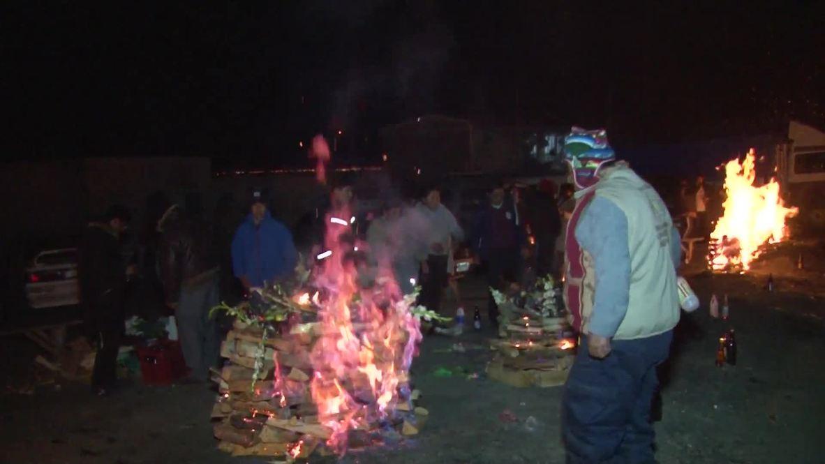 Bolivia: Llamas sacrificadas en ofrenda a la 'Pachamama' a cambio de prosperidad *GRÁFICO*