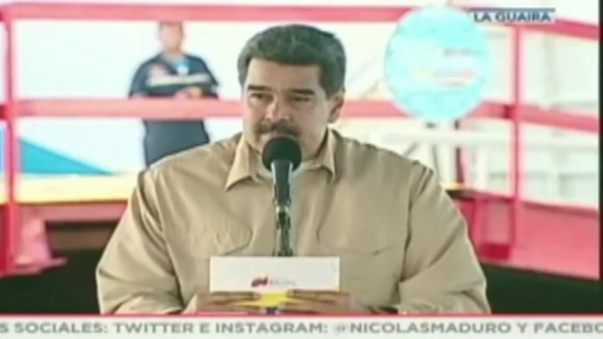 Venezuela: El presidente Maduro califica de 'ilegales' las amenazas de bloqueo de Trump