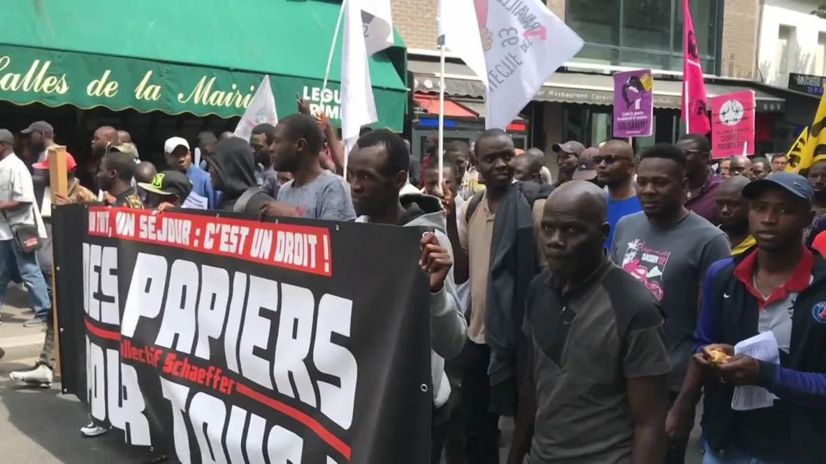 Francia: 'Chalecos negros' exigen un estatus legal y el fin de la brutalidad policial