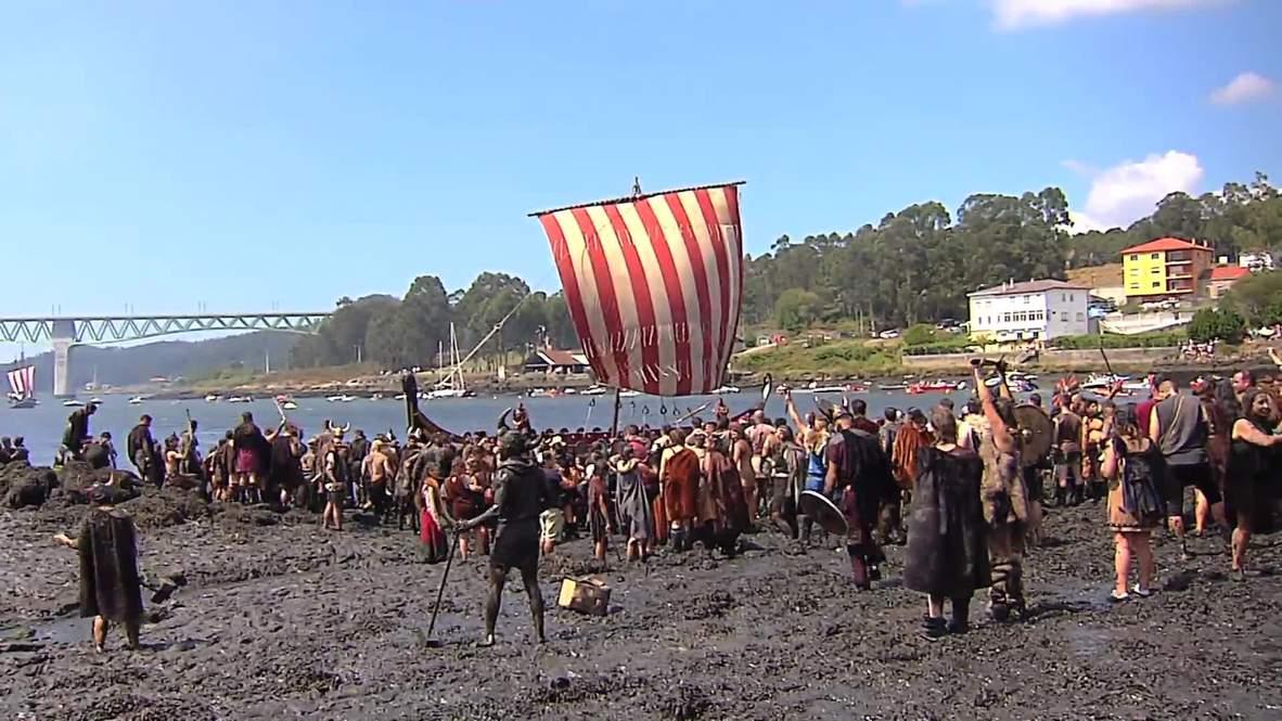 Vikingos INVADEN pueblo gallego en Romería