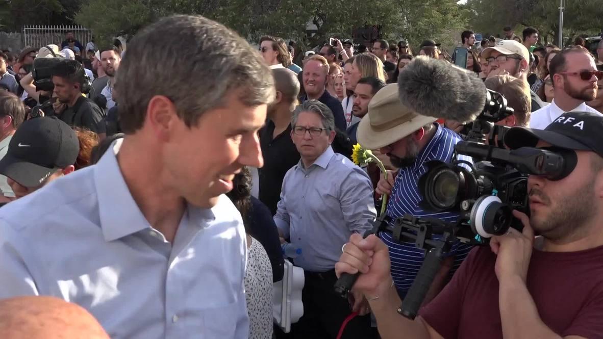 USA: Beto O'Rourke says Trump 'incites' violence at El Paso vigil