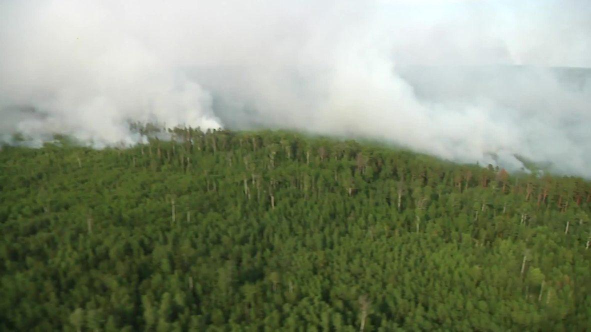 Россия: Авиация Минобороны продолжает тушение лесных пожаров в Сибири, вертолёты совершают по 15 вылетов в день