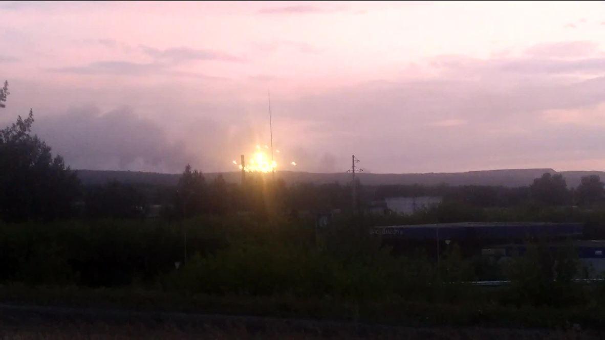Россия: Как минимум восемь человек пострадали в результате ЧП на военном складе в Ачинском районе