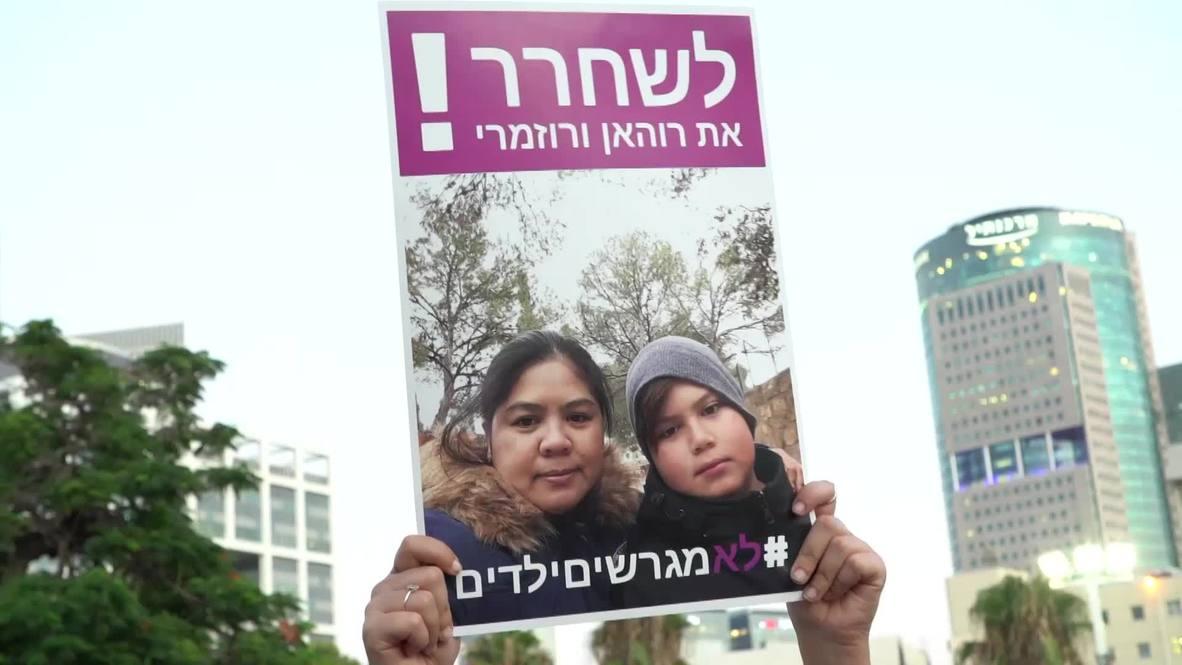 Israel: Miles de personas protestan contra deportación de trabajadoras filipinas y sus hijos