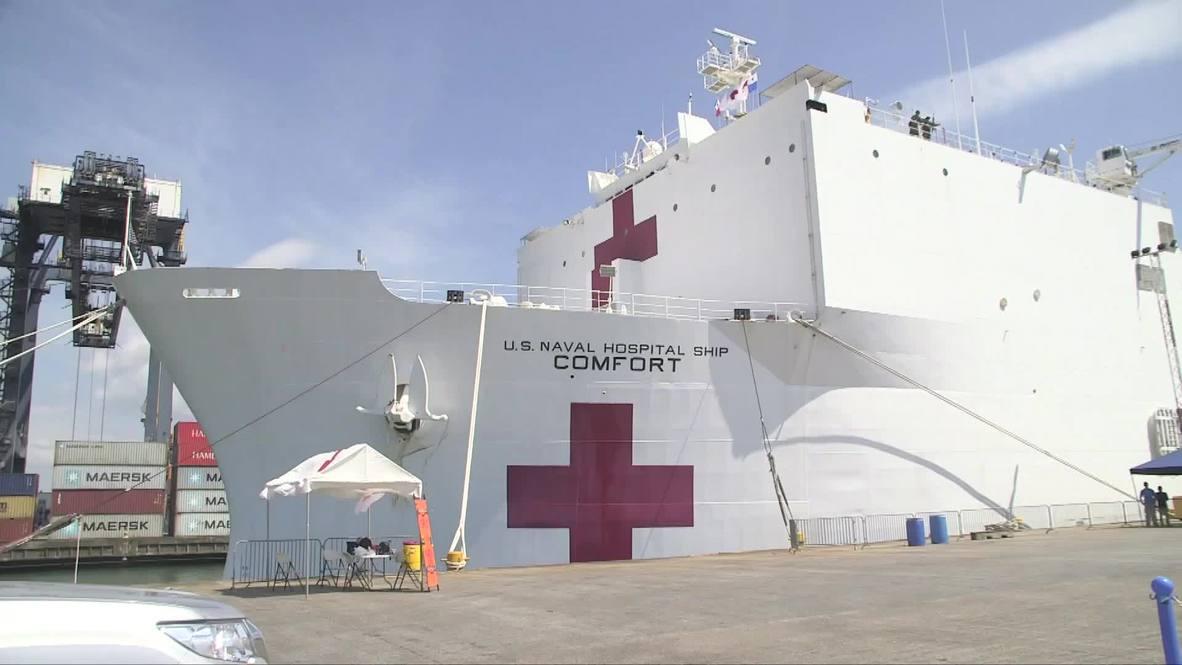 Panama: US hospital ship provides medical care to Venezuelan migrants