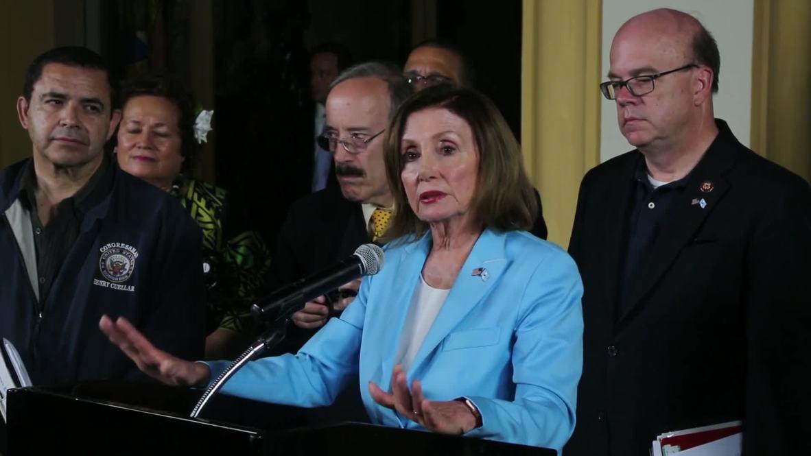Guatemala: Pelosi afirma que el trato de los EE.UU. a los migrantes es 'vergonzoso'