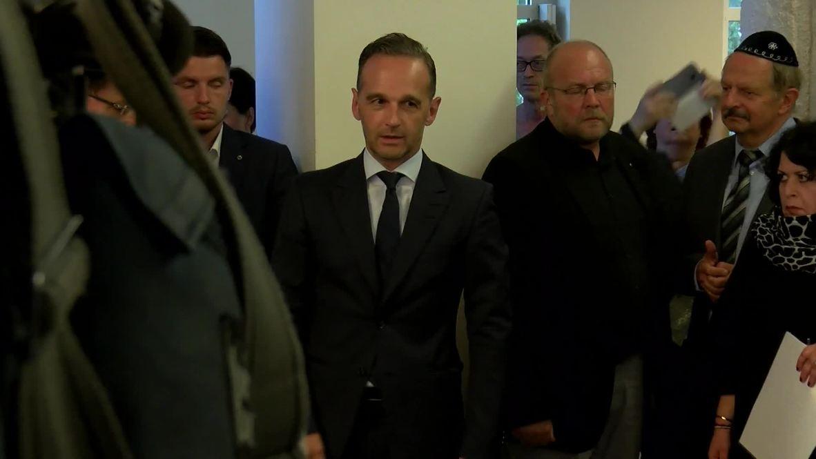 Alemania: Ministro de Exteriores asiste a oración en sinagoga de Berlín  luego de ataque a rabino