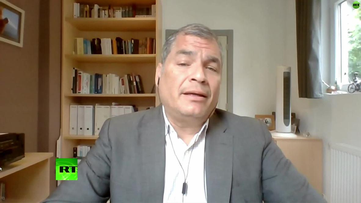 Belgium: Ecuadorian ex-president Correa says he is being unfairly legally pursued *EXCLUSIVE* *PARTNER CONTENT*