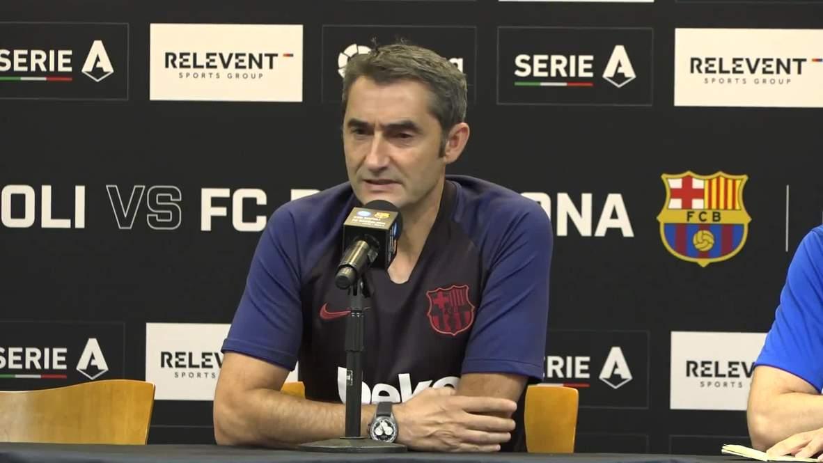 USA: Valverde welcomes 'heightened scrutiny' as Barca boss