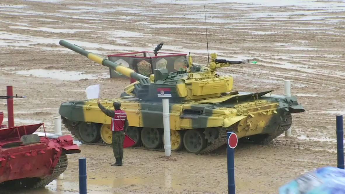 Russia: Tank biathlon semi-finals kick off at Army Games-2019