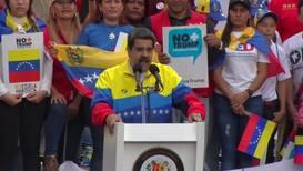 Venezuela: 'No more Trump' protest led by Maduro
