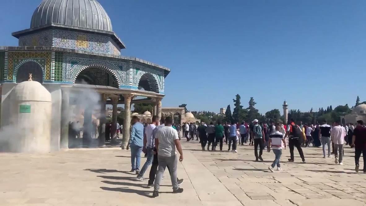 Jerusalén Este: Fieles rezan en Al-Aqsa en Eid al-Adha, antes de los enfrentamientos con la policía