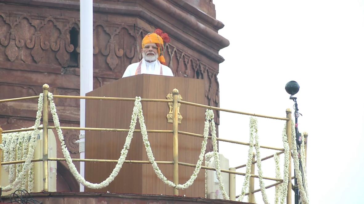 India: Modi hails decision on Kashmir at Independence Day celebration