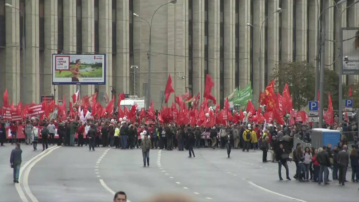 Россия: Около 4 тыс. приняли участие в митинге КПРФ на Сахарова