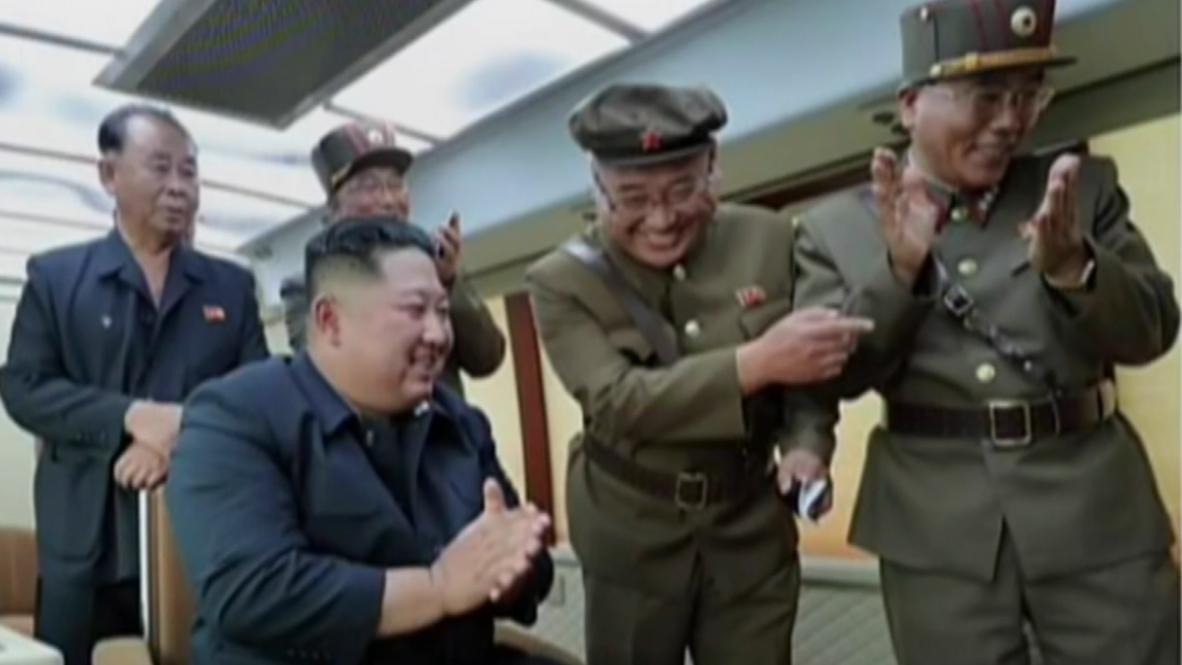 North Korea: Kim oversees new missile test - state media *STILLS*