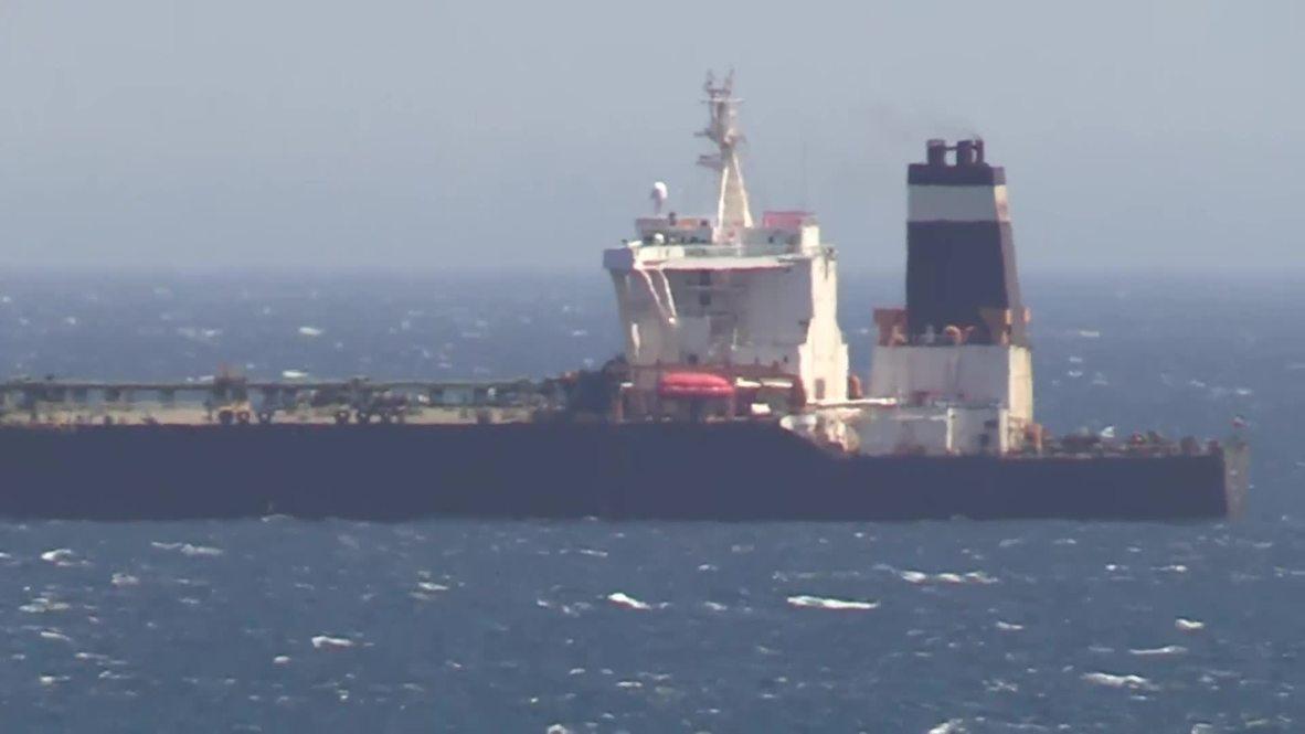 Gibraltar: El petrolero liberado iza la bandera iraní y cambia su nombre