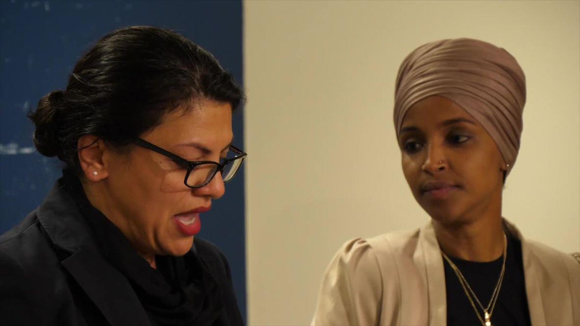 EE.UU: Rashida Tlaib llora al explicar las restricciones de su viaje a Israel