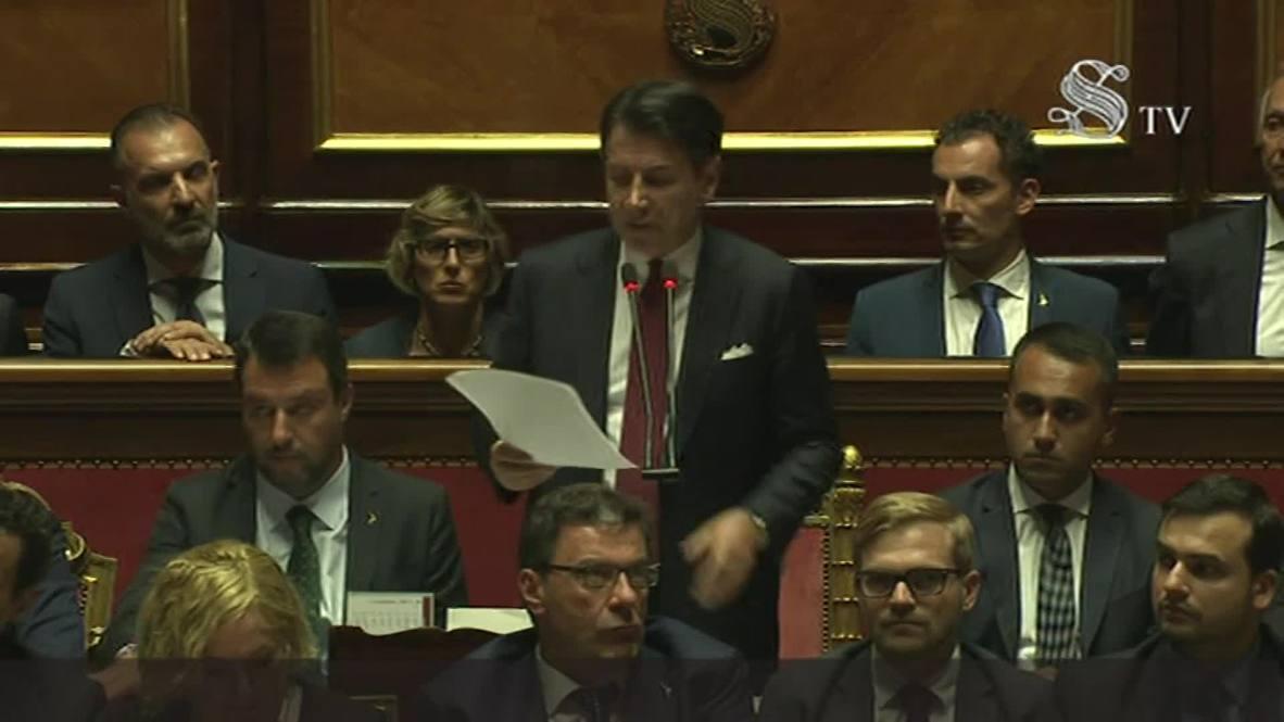 Italy: Prime Minister Giuseppe Conte announces resignation