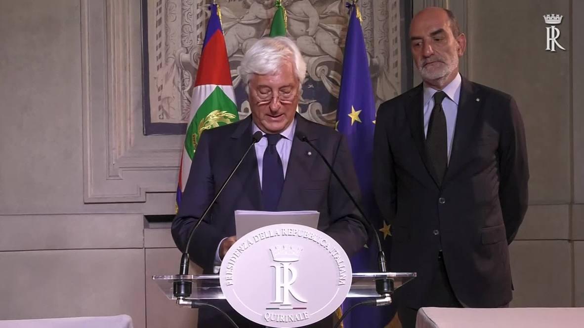 Italia: Presidencia confirma la dimisión oficial de Conte