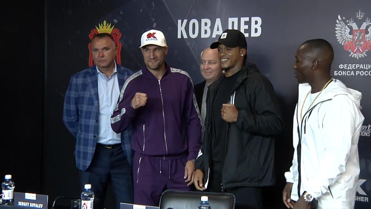 Rusia: Serguéi Kovalev y Anthony Yarde hablan con la prensa antes de la pelea por el título mundial