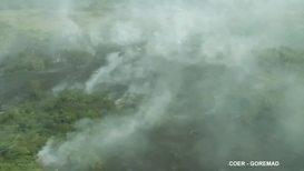 Peru: Rainforest wildfires burn in Madre de Dios region